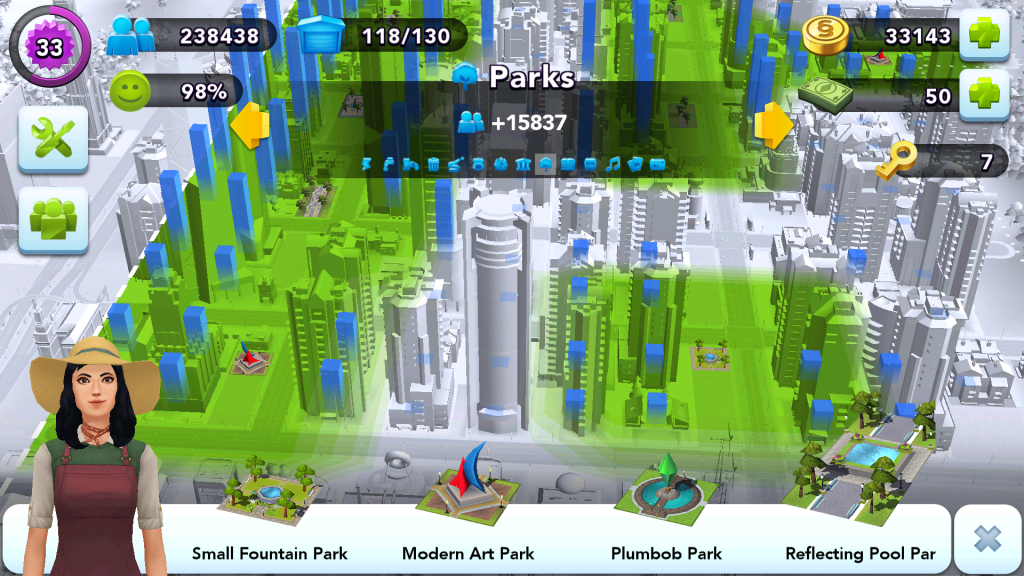 City Layout - Parks