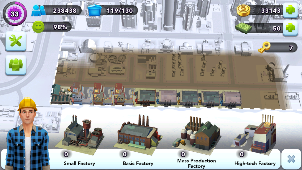 City Layout - Factory Pollution
