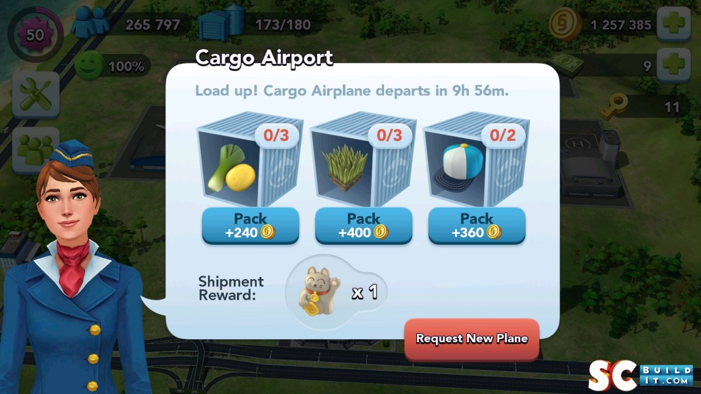 "Cargo Airport Screen. Note the new Shipment Reward - ""The Tokyo Kitty"""