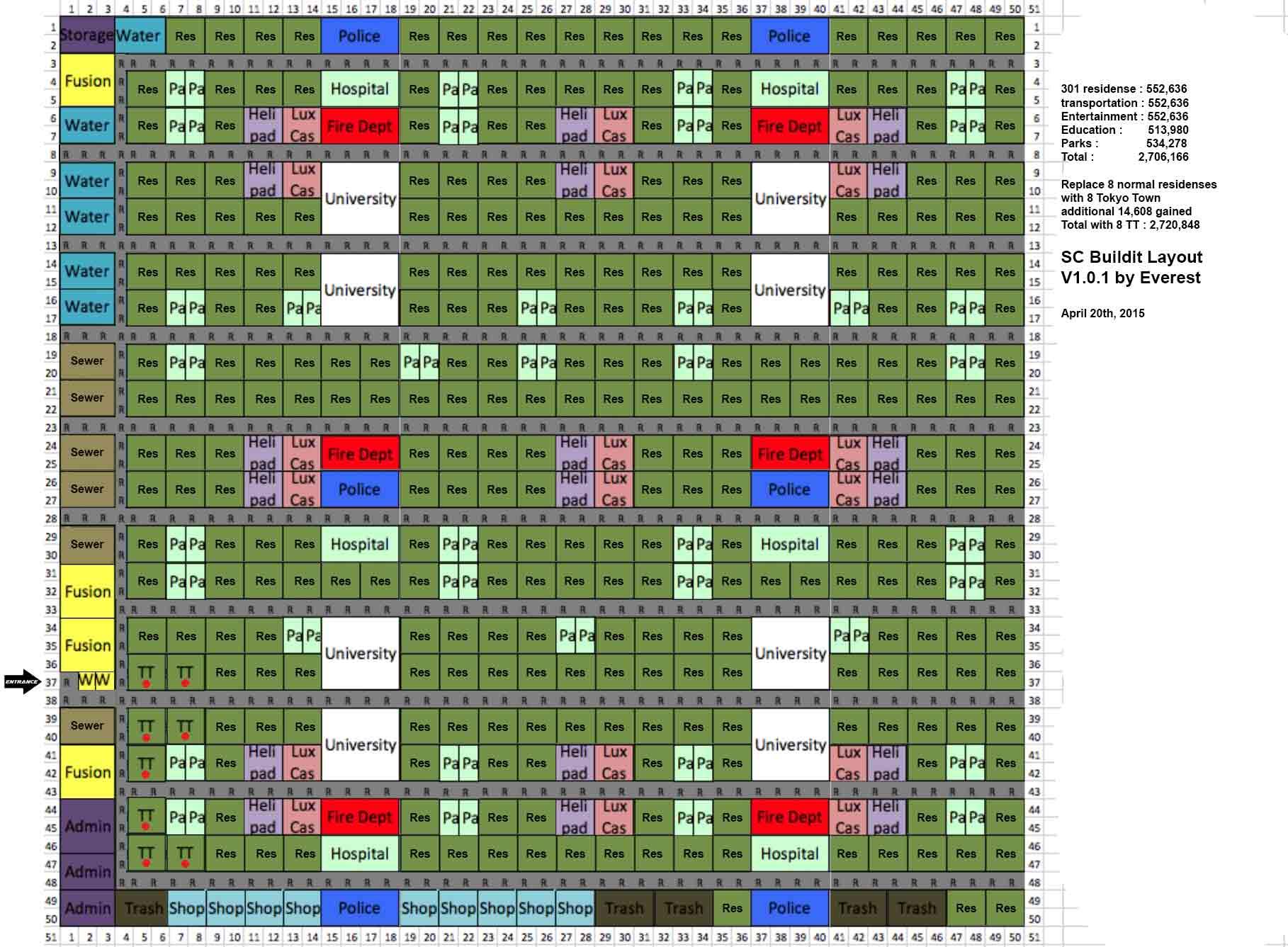 simcity buildit layout